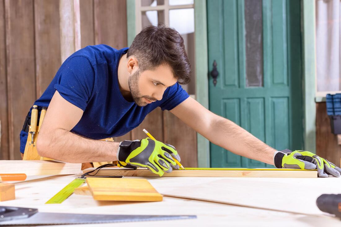 Man Doing Carpentry